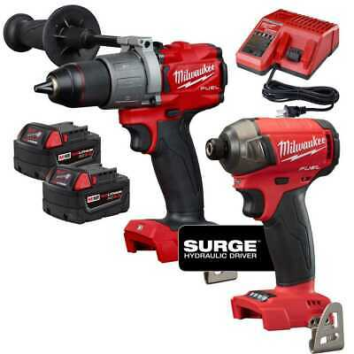 Milwaukee 2999-22 M18 FUEL 2-Tool Hammer Drill and Hydraulic Driver Kit New