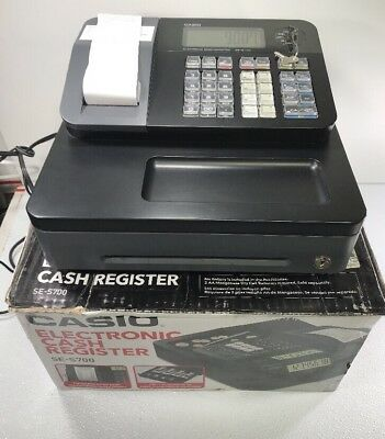 CASIO Cash Register SE-S700 - FREE SHIPPING - Very Lightly Used