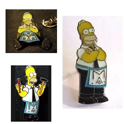 Masonic Homer Simpson Badges