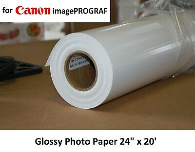 """Instant-Dry Gloss Photo Paper Aqueous 24"""" x 100' for Inkjet CANON imagePROGRAF"""