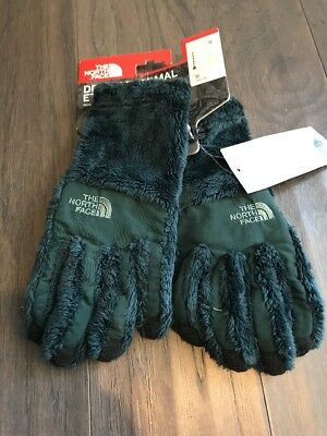 The North Face Denali Thermal Etip Gloves Darkest Spruce Green New Small Winter