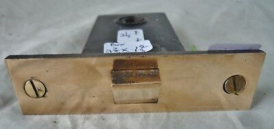 "Mortise latch box Marked: Sargent  1/2"" Cast Brass Face"