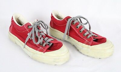 RARE VINTAGE VANS MADE IN USA SNEAKERS 70s 80s RED L@@K