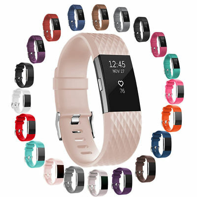 Sports Smart Silicone Watch Strap Bracelet Wrist Band For Fitbit Charge 2 /2 HR