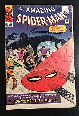 The Amazing Spider-Man #22 (Mar 1965, Marvel) VG, OW-W pages, flat, supple