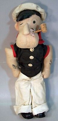 """Antique 17 inch Cloth """"POPEYE THE SAILOR MAN"""" Cloth Doll by Century Doll Company"""