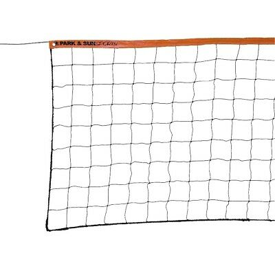 MacGregar Park Sun Sport VN-3S Steel Cable Regulation Size Volleyball Net Orange