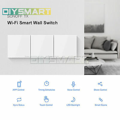 Sonoff Smart Home Wall Light Touch Wireless Controller Switch WIFI LED AU