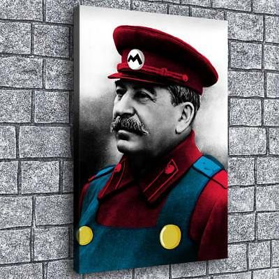 Mario Stalin Poster painting HD Print on Canvas Home Decor Room Wall Art Picture