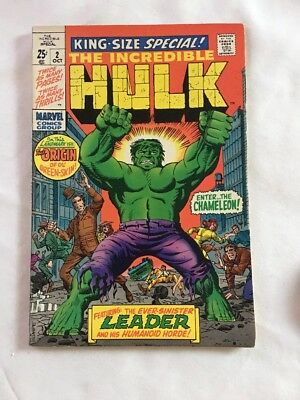 The Incredible Hulk #2 Enter The Chameleon Featuring Leader Marvel 1969