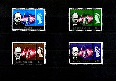Basutoland  - 1966 - Qe Ii -  Churchill Memorial - 4 X Mint - Mnh Set!
