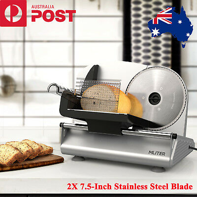 150W Electric Kitchen Slicer 7.5-Inch Stainless Steel Blade For Bread Meat Food
