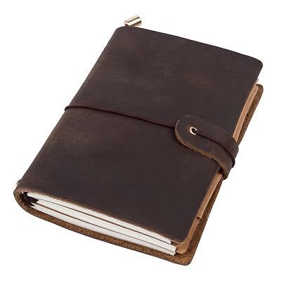 Refillable Handmade Journal Travel Notebook Leather Notepad Blank Diary Memo