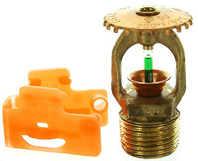 "Tyco TY313 200*F Fire Sprinkler Head Quick Response Brass Upright 1/2"" NPT K5.6"