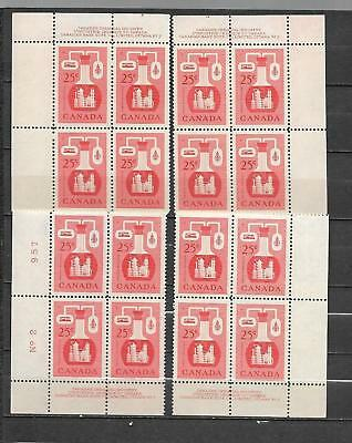 pk37170:Stamps-Canada #363 Chemical Industry 25 cent Plate 2  Block Set-MNH
