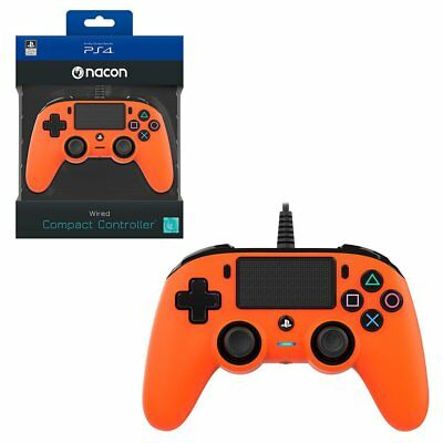 Nacon Orange Wired Compact Controller for PlayStation 4 PS4 NEW