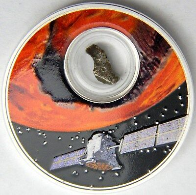 2017 Niue Mission to Mars 1oz Proof Silver Coin w/ encapsulated meteorite