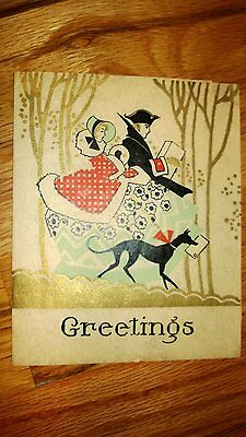 ANTIQUE RARE CHRISTMAS WISHES EARLY 1900-s POSTCARD