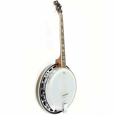 Koda FBJ74T, 4 String 19 Fret Tenor Banjo Mahogany Resonator with Solid Wood Rim