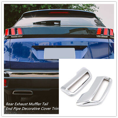 For Peugeot 3008 5008 Allure 2017 2018 Rear Exhaust Muffler End Pipe Cover Trim