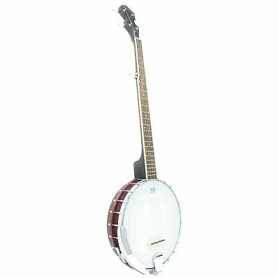5 String Koda FBJ2 Open Back Banjo 22 Frets 24 Brackets Plastic Neck & Resonator