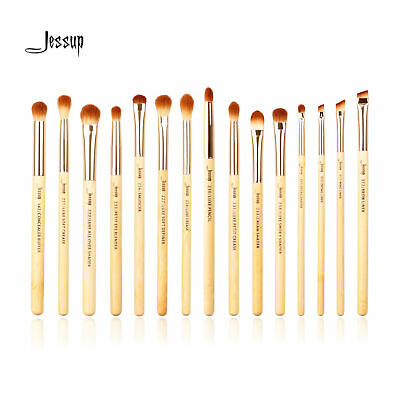UK Jessup Professional Eye 15Pcs Bamboo Cosmetic Brush Set Eyeshadow Eyeliner