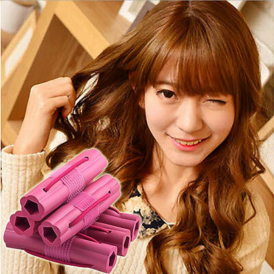 New 6pcs Flowers Design Sponge Curlers Easy To Make The Curly Hair Tools Charm