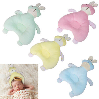 Newborn Baby Infant Soft Velvet Sleep Pillow Support Cushion Anti-Flat Head