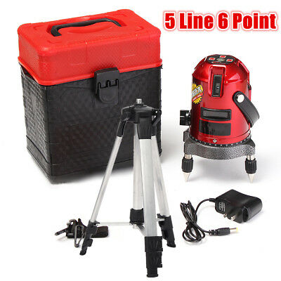 5 Line 6 Point Automatic Self Leveling Rotary Laser Level Meter Measure + Tripod