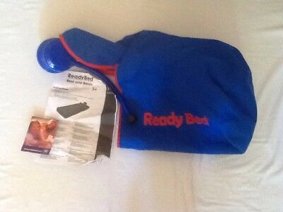 Ready Bed Bag And Pump Blue And Red Spares Excellent Condition NO BED INCLUDED