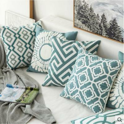 Stripe Pillowcase Cushion Case  Home Decoration Cotton Linen Cover Gifts New