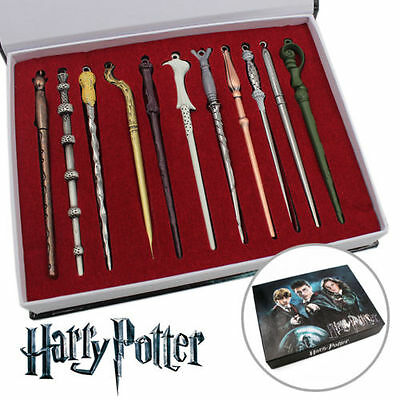 11PCS Harry Potter Hermione Dumbledore Sirius Voldemort Fleur Magic Wands In Box
