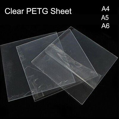 Clear PETG Vacuum Forming Moulding Plastic Sheet A4 A5 A6 05./0.8/1/1.5mm Thick