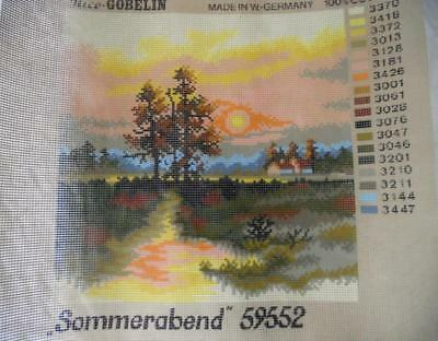 Unused Vintage Rice Gobelin Printed Tapestry Canvas Summer Evening 59552