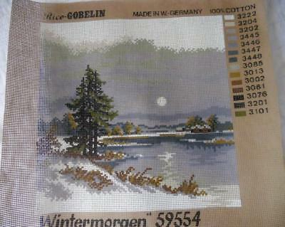 Unused Vintage Rice Gobelin Printed Tapestry Canvas Winter Morning 59554