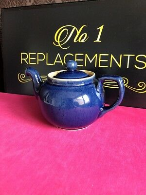 Denby Classics Blue 1.75 Pint Teapot None Drop Spout