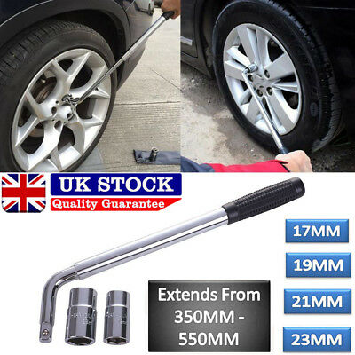 4 Size Telescopic Wheel Brace Wrench Car Van Socket Tyre Nut 17 19 21 23mm UKM2