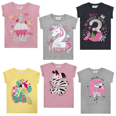 NEW Minikidz - Infant Boys and Girls Age Number Tshirt Tops Childrens Kids Gift