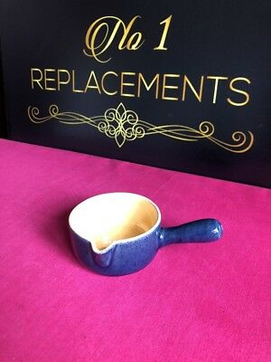 Bourne / Denby Classic Cottage Blue / Yellow Small Pan / Sauce Boat Handled