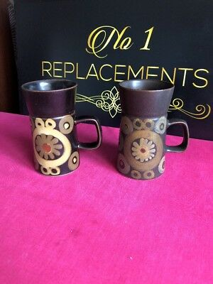 2 x Denby Arabesque Large Mugs 5.5""