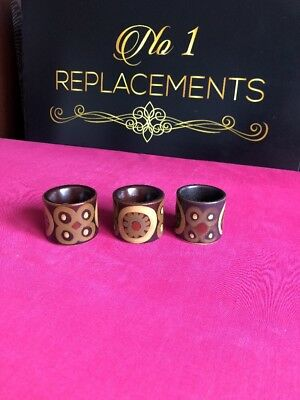 3 x Denby Arabesque Egg Cups