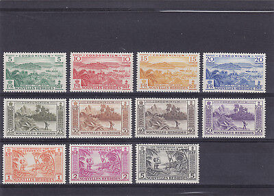 8 New Hebrides MH 1957 Mi. 183/193 Nice set
