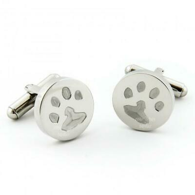 Personalised Paw Print Cufflinks |  Gift for Cat and Dog Owners | Father's Day