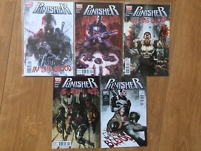 PUNISHER In The Blood Complete 5 Issue Marvel Miniseries