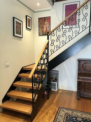 Stunning Victorian Ash Hardwood Staircase Excellent Condition Melbourne