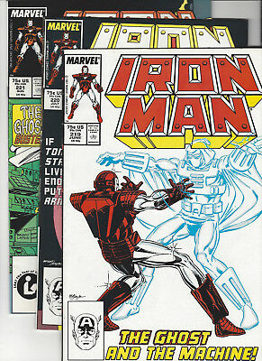 Iron-Man #219 220 221 1st & 2nd Ghost! Death of Spymaster! KEYS Ant-Man Movie!
