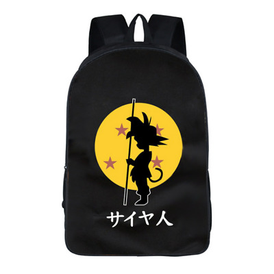 Cartoon Anime Dragon Ball Super Saiyan Goku Student Schoolbag Laptop Backpack