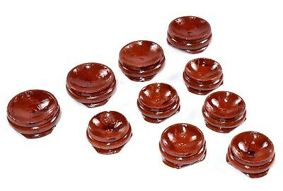 32mm Brown Wood Round Display Stand / Pedestal for Spheres / Eggs Crystals