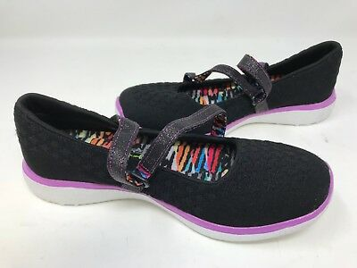 f6f5d05f351a Skechers Youth Girl s MICROBURST ONE UP Shoes Black purple  86914L 176A lz