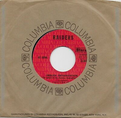 PAUL REVERE AND THE RAIDERS  Indian Reservation / Terry's Tune rare 45 from 1971